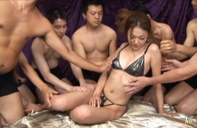 Sakura Asian chick gets a poking from her horny boyfriend