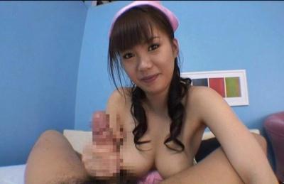 Japanese AV model is hot nurse who enjoys getting her pussy drilled