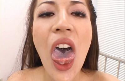 Anri Suzuki Asian doll gets a cock ride