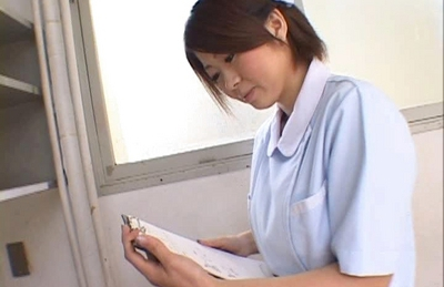 Hot Asian chick is a hot nurse who likes fucking her patients