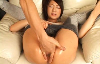 Minori Hatsune Asian model in sexy lingerie has a nice ass