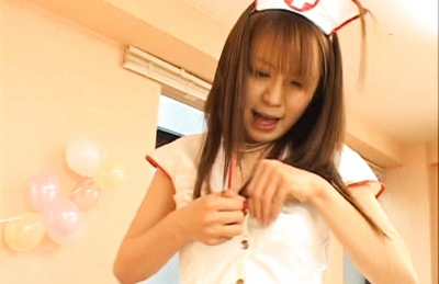 Japanese AV model is a beautiful nurse showing off her pussy