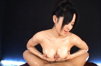 Sora Aoi Japanese beauty gets covered in lube and sucks cock