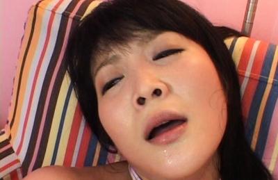 Yuri Hiyoshi Asian doll rides huge dildo