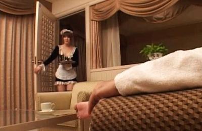 Saki Tsuji Hot Japanese waitress enjoys hard fucking