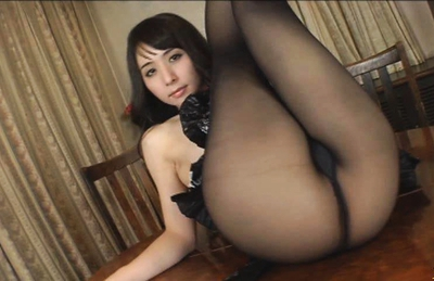 Yuka Osawa Lovely Japanese model in sexy tights shows off her round ass