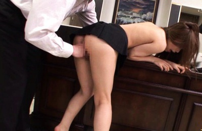 Blonde Secretary Gives Her Boss Her Proposal and a Quick