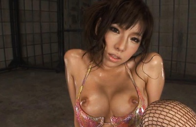 Serina Hayakawa Asian model in sexy stockings gets her pussy fingered