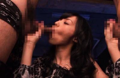 Aino Kishi Asian model is fucked by two men