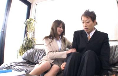 Miho Imamura Naughty office lady enjoys hard sex