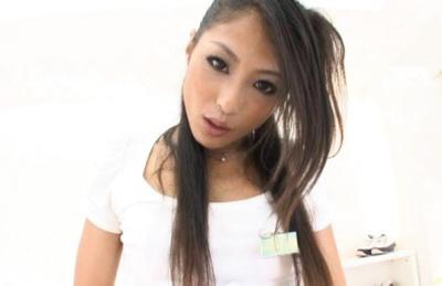 Aoi Miyama Asian model fucked by horny guy