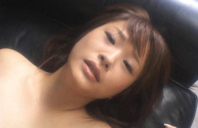 Nasty Japanese Coco Mimori rides cock and blows in couch
