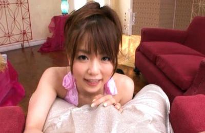 Expert sex doll Saki Ninomiya wild blowjob