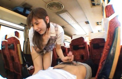 yuma Asami sucks cock and gets some pussy stimulation in a public place.
