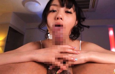 Ass licker Aino Kishi blows cock and gets fucked in pussy.