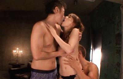 Akiho Yoshizawa having hot group sex!