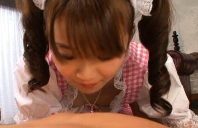Asuka Hoshino Hot Asian babe in waitress uniform