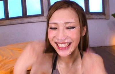 Anna Anjo Asian model gets a load of cum on her pretty face