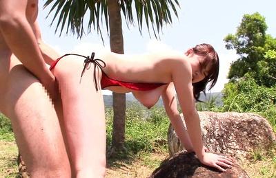 Sexy Nanako Mizukawa gets cum on her tits