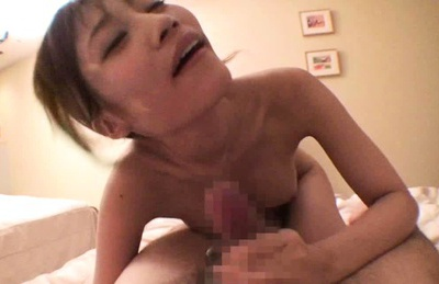 Suzuka Miura Amateur Asian pornstar sucks cock on camera