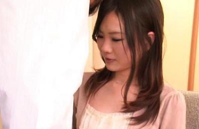 Hot and horny Japanese AV model fondles her sexy body