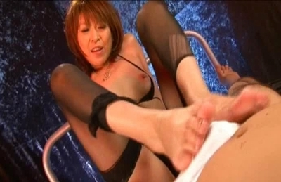 Jun Kusanagi Pretty Japanese Model In Black Lingerie Enjoys Cock