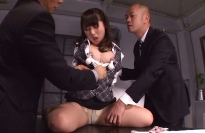Charming office girl Mao Kurata enjoys a kinky action