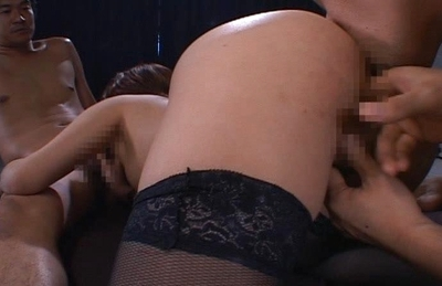 Asian gal plays with a pussy toy and gets a hard fucking