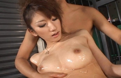 Asuka Sena Asian model is lubed up and fucked hard