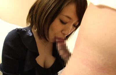 Stunning housewife Nozomi Hara sucks cock gets a facial