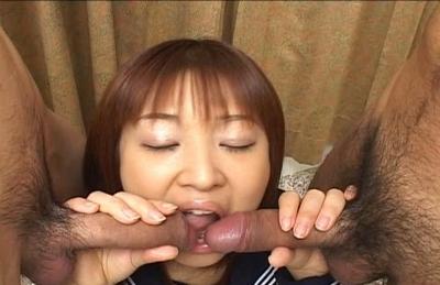Miyuki Fujino Enjoys sucking cock and getting a facial