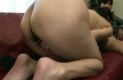 Creamed pussy of horny mature Asian chick Ayumi Takanashi