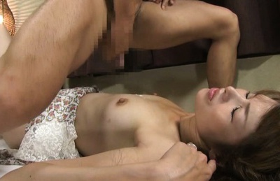 Delicious Japanese AV model milf enjoys toying her pussy and sideways bang