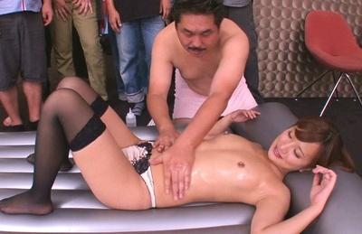 Naughty handjob session from Kokone Mizutani