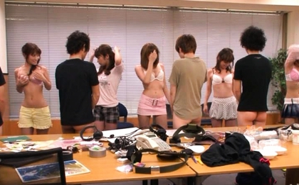 Akane Hotaru and Aya Fuji Hot Asian model has a hot group fucking