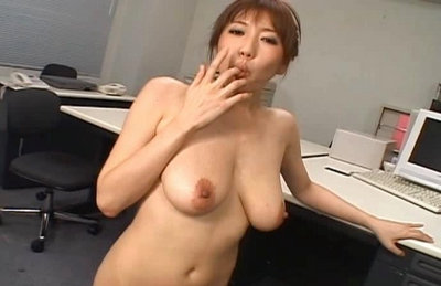 Japanese AV model enjoys a hard fucking in the office