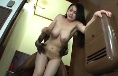 Hot Anna Natsuki enjoys hardcore stand fucking