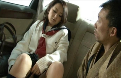 Rui Natsukawa Asian student gets a hard fucking in a car