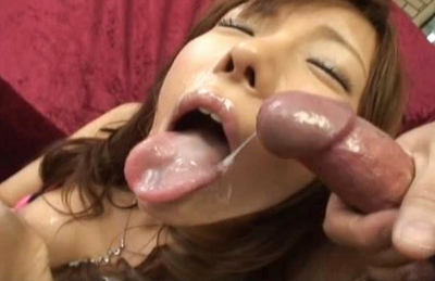 Japanese AV model has a nice tight pussy to show off