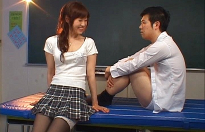 Mizuki Naughty Asian schoolgirl gets cum on her face after a hard fucking