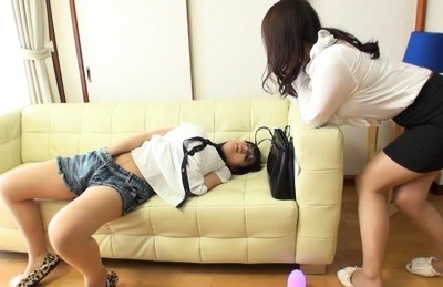 Kaori Otonashi hot Asian teen masturbates in front of room mate