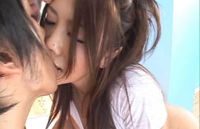 Shiori Tsukimi Japanese babe shows off her wild hairy pussy