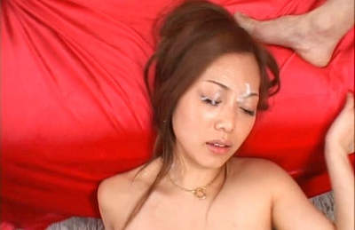 Miho Maeshima Naughty Asian doll gets her face  with cum