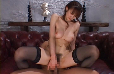 Erika Kirihara Asian doll in sexy stockings gets her pussy licked