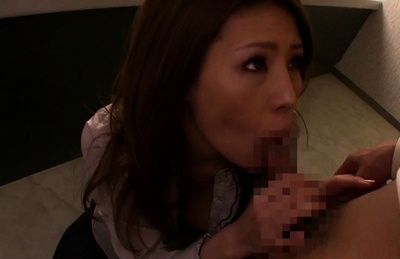 Horny Asian MILF, Haruka Sanada gets banged in the bathroom