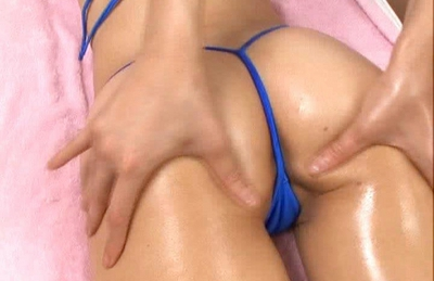 Noa Asian doll gets a massage