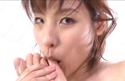 Nao Ayukawa Naughty Asian babe enjoys a hard fucking after a shower