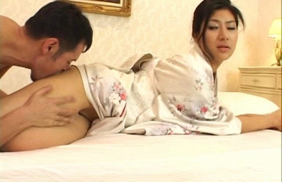 Japanese AV model in sexy lingerie is fucked real hard