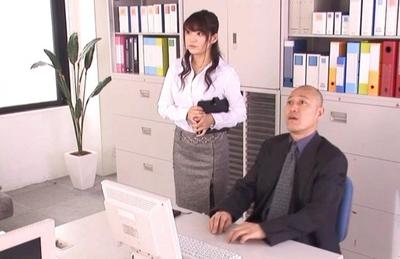 Megu Fujiura Asian chick gets her pussy masturbated