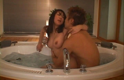 Minori Hatsune is fucked from behind in the shower